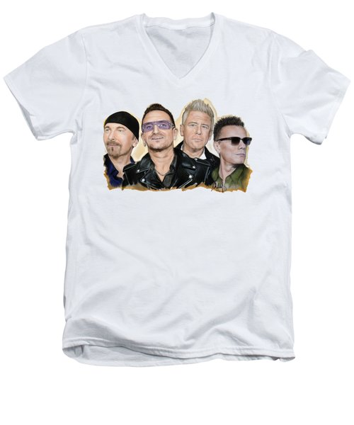 U2 Band Men's V-Neck T-Shirt
