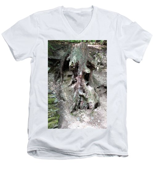 Unusual Tree Root Men's V-Neck T-Shirt