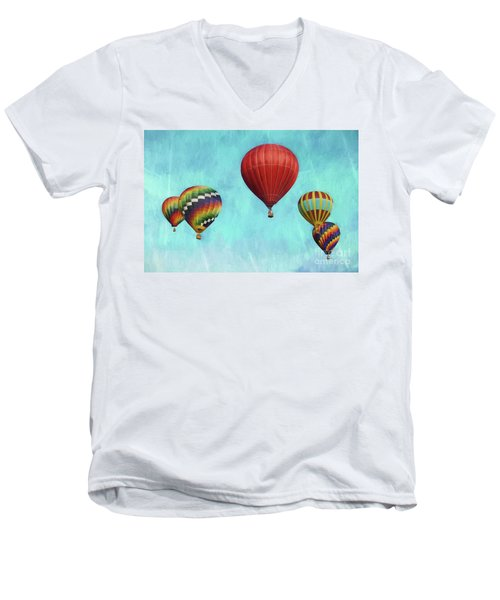 Men's V-Neck T-Shirt featuring the photograph Up Up And Away 2 by Benanne Stiens