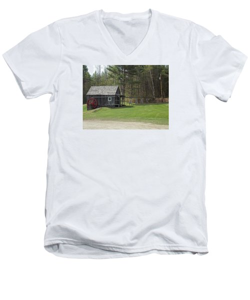 Vermont Grist Mill Men's V-Neck T-Shirt by Catherine Gagne