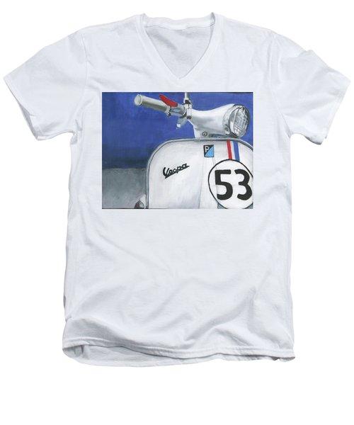 Vespa 53 Men's V-Neck T-Shirt