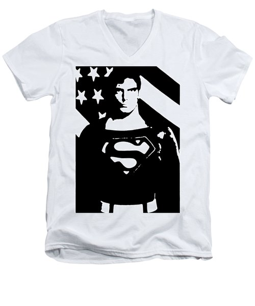 Waiting For Superman Men's V-Neck T-Shirt by Saad Hasnain