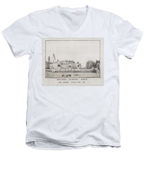 Walmer Castle Kent Men's V-Neck T-Shirt