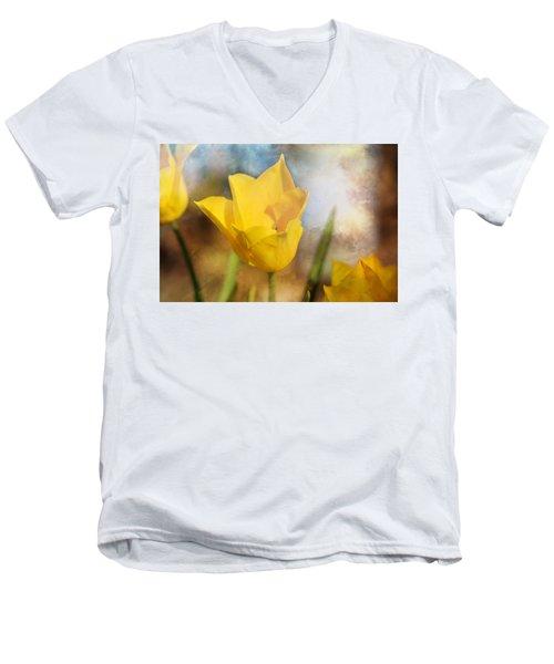 Water Lily Tulip Flower Men's V-Neck T-Shirt