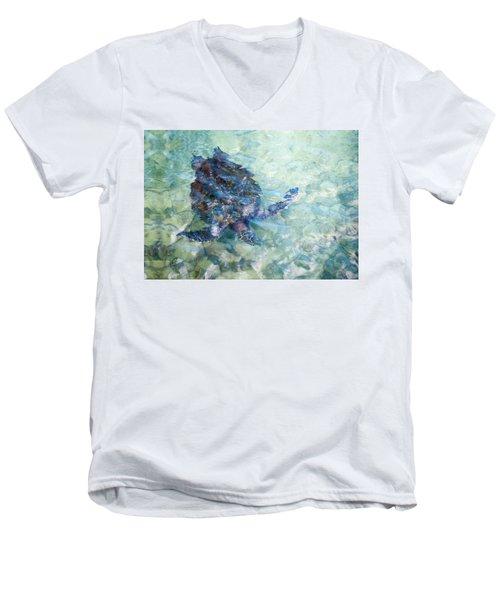 Watercolor Turtle Men's V-Neck T-Shirt