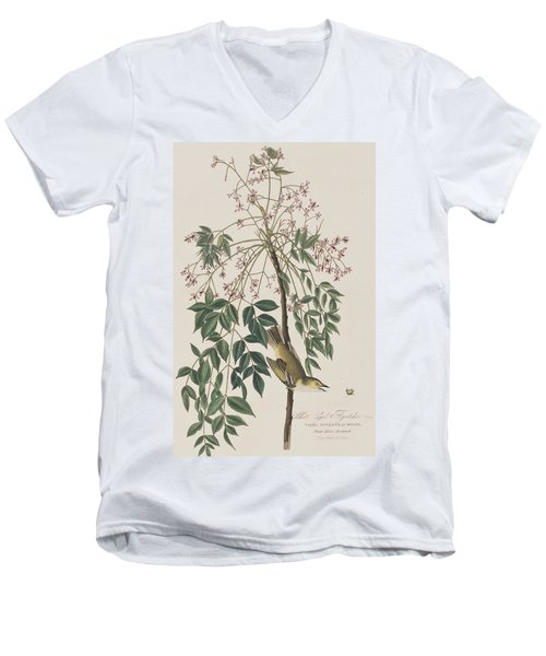 White-eyed Flycatcher Men's V-Neck T-Shirt