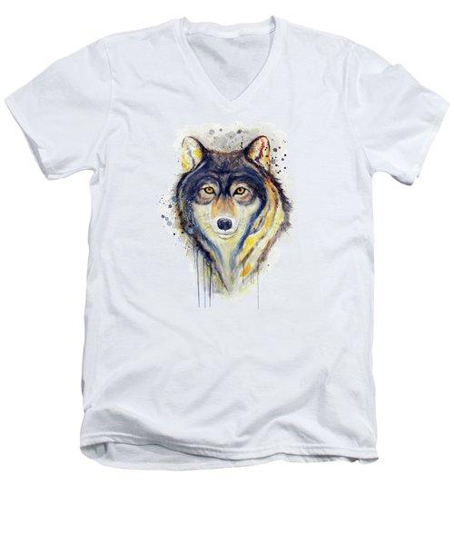 Wolf Head Men's V-Neck T-Shirt