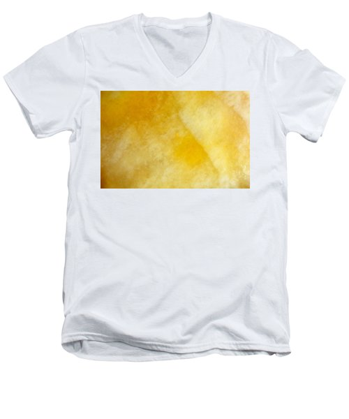 Yellow Men's V-Neck T-Shirt by Corinne Rhode