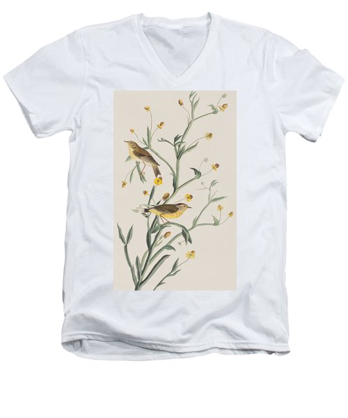 Yellow Red-poll Warbler Men's V-Neck T-Shirt