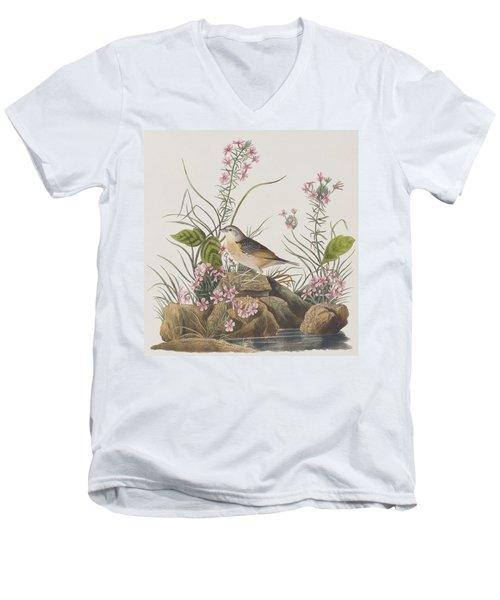 Yellow-winged Sparrow Men's V-Neck T-Shirt by John James Audubon