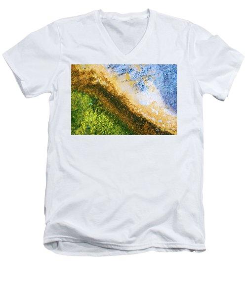 Yellowstone Abstract Men's V-Neck T-Shirt