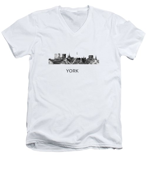 York Skyline England Men's V-Neck T-Shirt