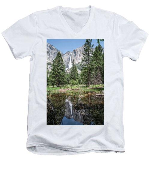 Yosemite View 16 Men's V-Neck T-Shirt by Ryan Weddle