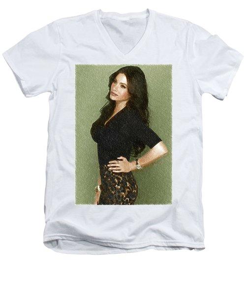 Celebrity Sofia Vergara  Men's V-Neck T-Shirt by Best Actors