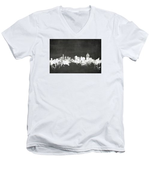 Cincinnati Ohio Skyline Men's V-Neck T-Shirt
