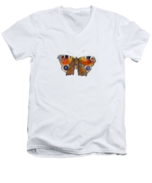 10 Peacock Butterfly Men's V-Neck T-Shirt