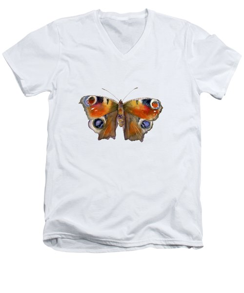 10 Peacock Butterfly Men's V-Neck T-Shirt