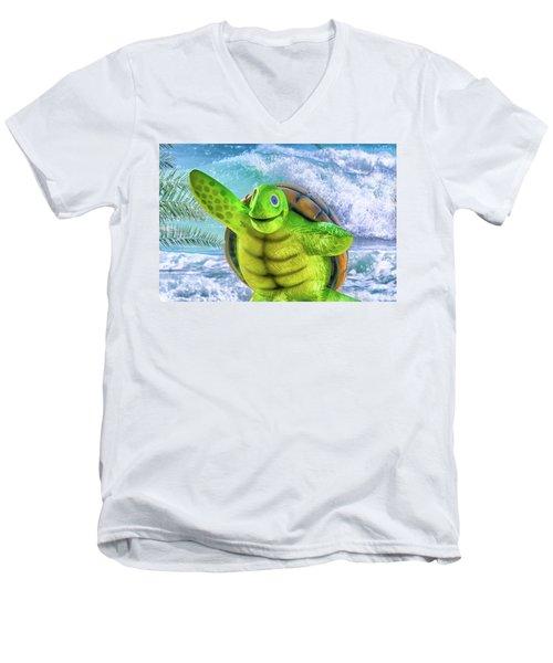 10731 Myrtle The Turtle Men's V-Neck T-Shirt