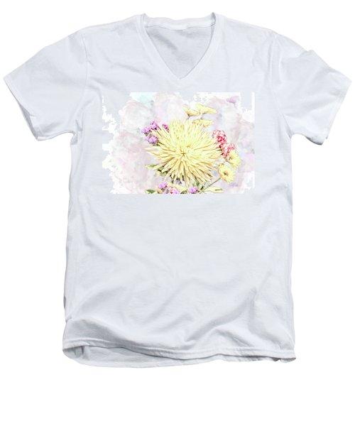 10865 Spring Bouquet Men's V-Neck T-Shirt
