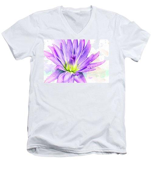 10889 Purple Lily Men's V-Neck T-Shirt