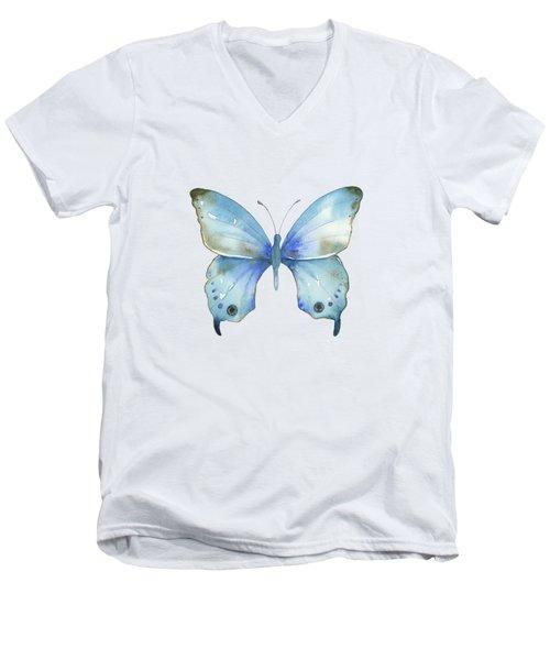 #109 Blue Diana Butterfly Men's V-Neck T-Shirt