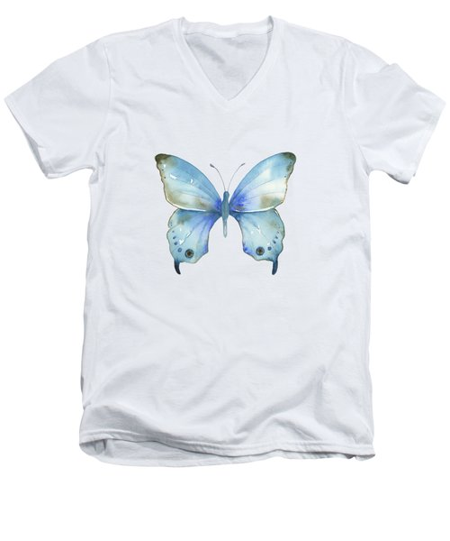 #109 Blue Diana Butterfly Men's V-Neck T-Shirt