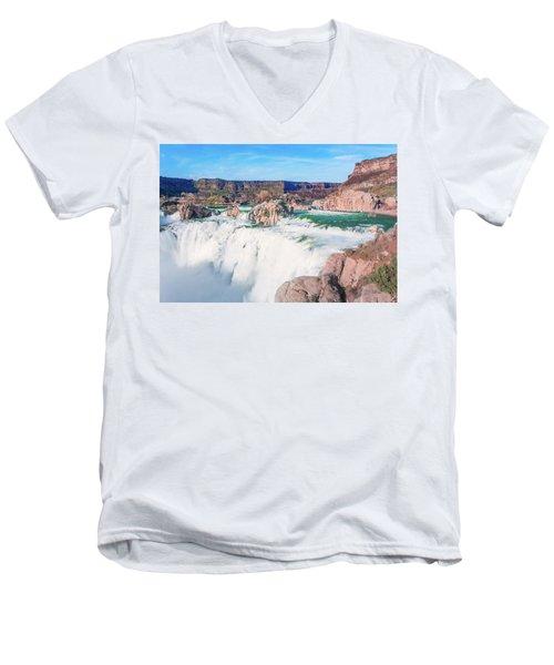 10917 Shoshone Falls Men's V-Neck T-Shirt