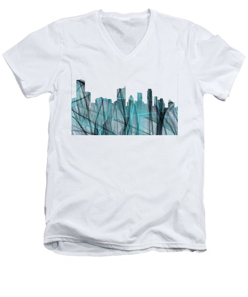 Austin Texas Skyline Men's V-Neck T-Shirt