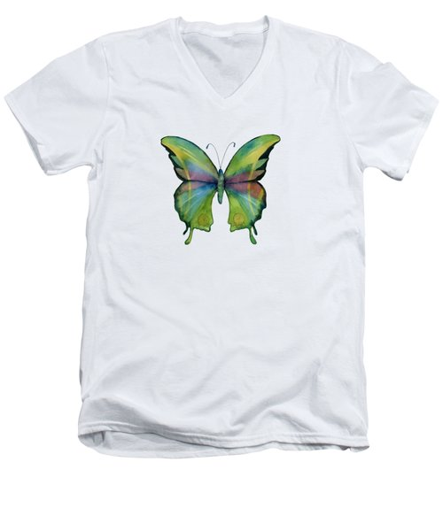 11 Prism Butterfly Men's V-Neck T-Shirt