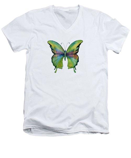11 Prism Butterfly Men's V-Neck T-Shirt
