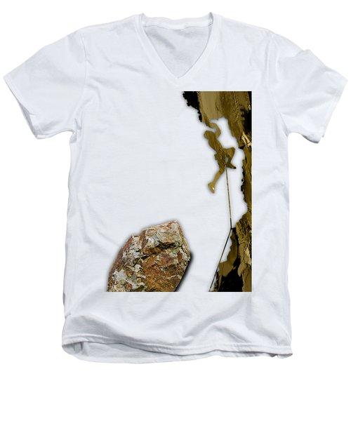 Rock Climber Collection Men's V-Neck T-Shirt