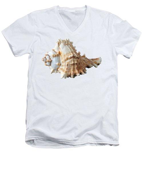 Sea Shell Men's V-Neck T-Shirt by George Atsametakis