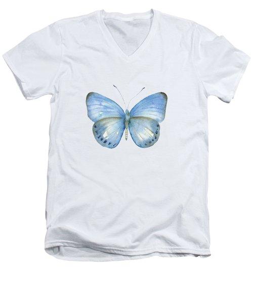 110 Blue Jack Butterfly Men's V-Neck T-Shirt