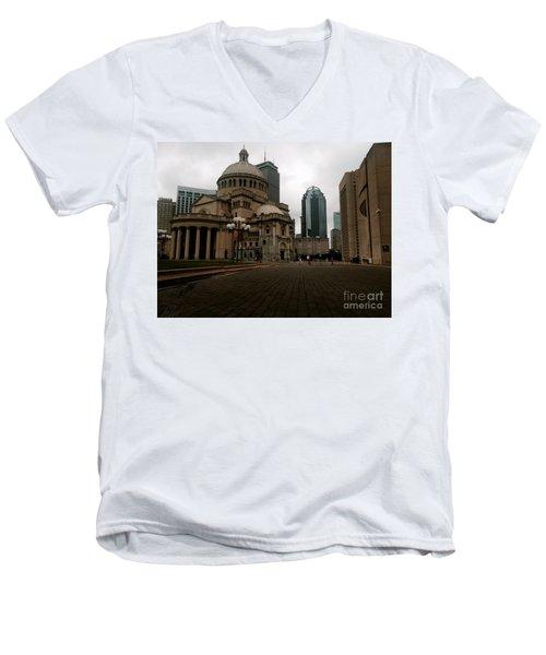 111 Huntington Ave Men's V-Neck T-Shirt by KD Johnson