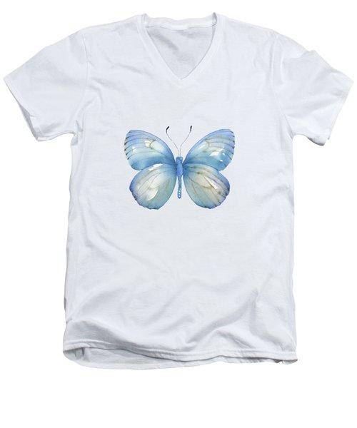 112 Blue Marcia Butterfly Men's V-Neck T-Shirt