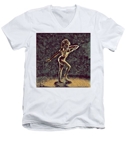 1192s-zac Nudes In The Style Of Antonio Bravo  Men's V-Neck T-Shirt by Chris Maher