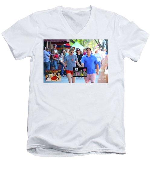 12-31-2056g Men's V-Neck T-Shirt