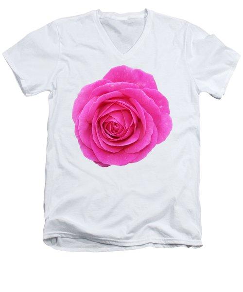 Rose Men's V-Neck T-Shirt by George Atsametakis
