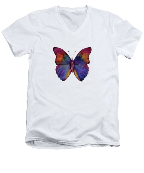 13 Narcissus Butterfly Men's V-Neck T-Shirt