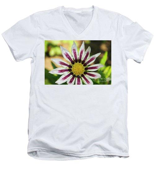 Nice Flower Men's V-Neck T-Shirt by Elvira Ladocki