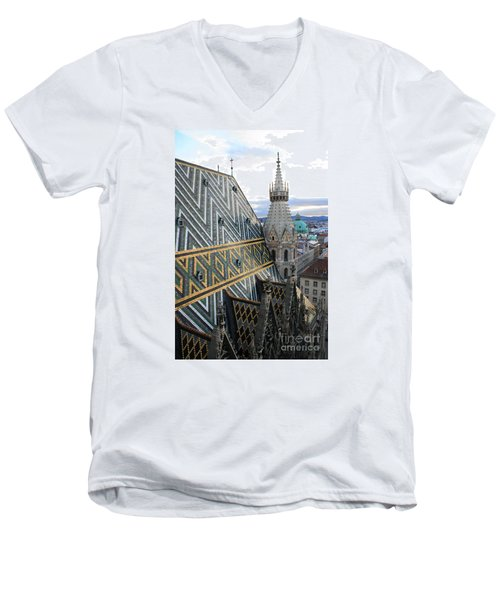 St Stephens Cathedral Vienna Men's V-Neck T-Shirt by Angela Rath
