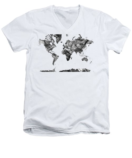 World Map Men's V-Neck T-Shirt