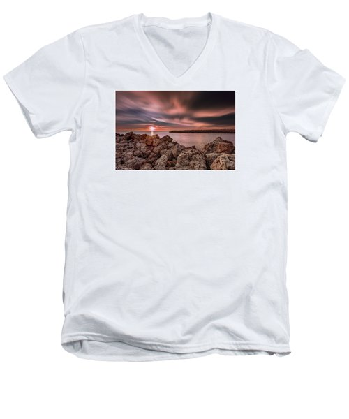 Sunst Over The Ocean Men's V-Neck T-Shirt