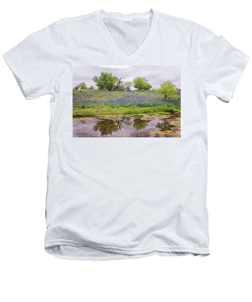 Texas Bluebonnets 7 Men's V-Neck T-Shirt