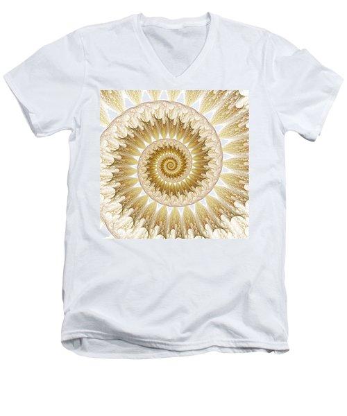 18 Karat Men's V-Neck T-Shirt by Lea Wiggins
