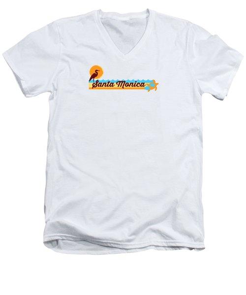 Santa Monica Men's V-Neck T-Shirt