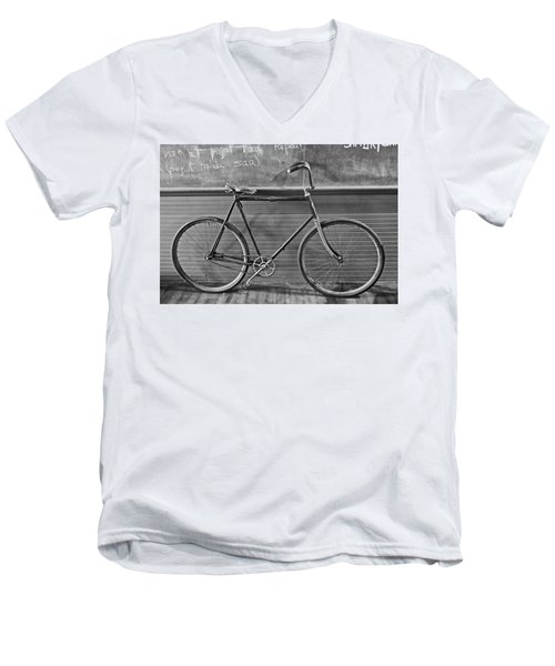 Men's V-Neck T-Shirt featuring the photograph 1895 Bicycle by Joan Reese