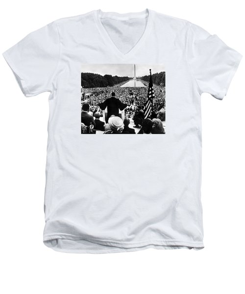 Martin Luther King Jr Men's V-Neck T-Shirt by American School