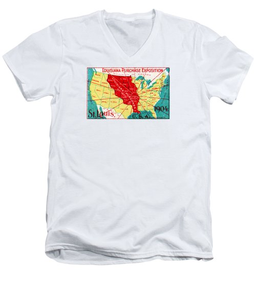1904 Louisiana Purchase Exposition Men's V-Neck T-Shirt