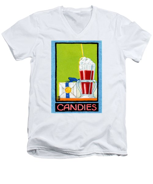 1910 Candies Men's V-Neck T-Shirt